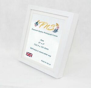 Premium Quality Photo Picture Frame✓Solid Wood White Box✓ Made in UK✓ Size 6x4