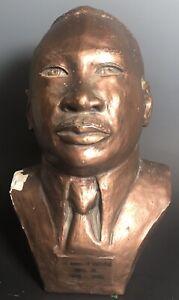 1960's Martin Luther King Bust Plaster Poss Richmond Barthe African American Art