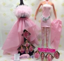 "BARBIE~FASHION 80s~""PARTY PINK""~OVER 10 GORGEOUS LOOKS!~VINTAGE 1987 LOT~NEW"