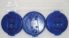 3-Dark Blue Replacement Lids and 3-Straws for the 32 oz Hospital mugs