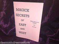 Magick Secrets of the East & West Finbarr occulte magie noir blanc grimoire