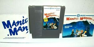 Maniac Mansion NES Horror Adventure TESTED Authentic Nintendo Cartridge Manual