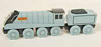 Thomas The Tank Engine & Friends Wooden Silver Blue Spencer & Tender fits Brio