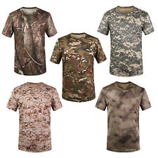 New Outdoor Hunting Camouflage T-shirt Men Breathable Army Tactical Combat Q7A6