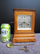 Antique Small English 5 Glass Library Mantel Bracket Clock