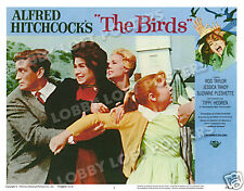 THE BIRDS LOBBY SCENE CARD # 1 POSTER 1963 ROD TAYLOR SUZANNE PLESHETTE