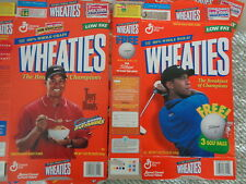 WHEATIES - TIGER WOODS (2) STYLES LARGE BOX (10) TOTAL - CLASSIC COLLECTIBLE