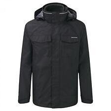 Craghoppers Mens Wheeler Waterproof 3-In-1 Jacket Black L RRP £150 CS074 01 A