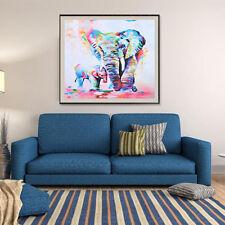 Frameless Modern Abstract Minimalist Elephant Wall Art Oil Painting On Canvas LN