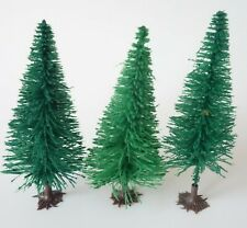 """Vintage Trees For Christmas Village Or Train Layout Flocked Plastic 4 1/4"""""""