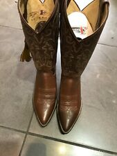 justin boots brown Leather size 5 C