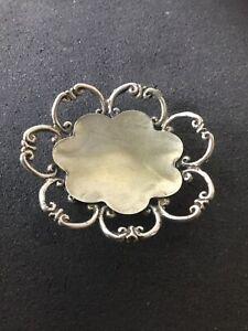 Cestino Ovale in Argento 800 Prezioso Oggetto di Argenteria Artigianale vintage
