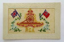 WW1 Silk Postcard. 'Royal Garrison Artillery' RGA