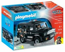 Playmobil City Action 5674 Tactical Unit Police Car Jeep Kids Boys Toy Playset