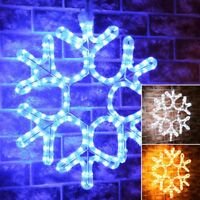 ConnectPro Connectable Outdoor Christmas LED Snowflake Motif   Garden Rope Light
