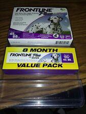 Frontline Plus Dog 45-88LB Value Pack Flea/Tick Treatment - 8 Months SEALED/NEW!