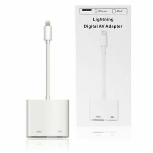 For Apple iPhone 6 7 8 12 11 XR XS Max 8-pin To HDMI Digital AV TV Cable Adapter