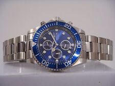 INVICTA PRO DIVER CHRONOGRAPH BLUE DIAL ST.STEEL MEN'S WATCH 1769 PRE-OWNED