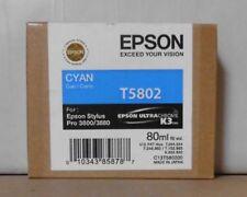 ORIGINALE Epson t5802 inchiostro ciano per stylus pro 3800 3880 c13t580200 2016 OVP