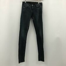 Guess Jeans Size W27 Skinny Fit Jegging Mid Rise Dark Blue Distressed 300842