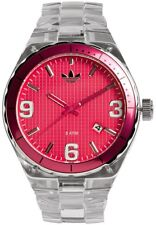 NEW ADIDAS CAMBRIDGE ACRYLIC CLEAR & PINK WATCH ADH2512
