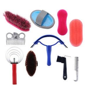 Horse Cleaning Tool Set 10Pcs Horse Grooming Care Kit Equestrain Brush Curry