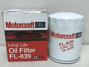 FL839 Motorcraft Engine Oil Filter