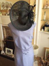 Jacques Vert Hazel Range Artic Blue Shantung Dress Only Size 18 Ec Hols 12/9