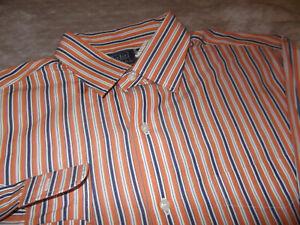 POLO RALPH LAUREN CLASSIC CASUAL DRESS SHIRT - 16.5 - 34/35 - STRIPES - EUC