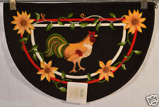NOURISON ROOSTER WHOLE HOME ACCENT RUG KITCHEN RUG/MAT 20X30 SLICE 100% WASHABLE
