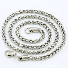 "34"" 3mm Men's Women's 316L Stainless Steel Necklace Chain Silver N1V11B"