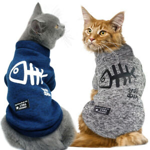 Cat Clothing Winter Dog Clothes Hoodies Kitten Kitty Outfits Cat Coats Jacket