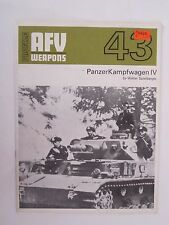 AFV Weapons Profile No. 43: PanzerKampfwagen IV - Color & BW Illustrations