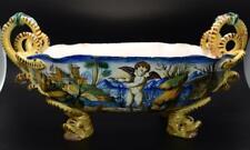Large Antique 19thC Cantagalli Maiolica Centerpiece Bowl - Majolica Faience