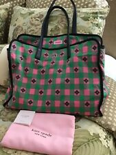Kate Spade Nylon Tote Shopper Morley XLarge Tote Pink Green Dustbag NWT MSRP$348