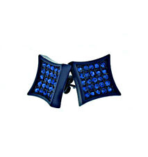 MENS ICED OUT 10MM BLUE WITH BLUE CZ HIP HOP PAVE KITE STUD EARRINGS