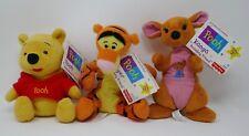 Fisher Price Winnie the Pooh Beanbag Friends Pooh Tigger Kanga Plush w/Tags