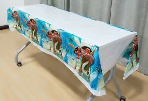 MOANA MAUI TABLE CLOTH COVER TABLECLOTH BIRTHDAY PARTY LOLLY LOOT DECORATION