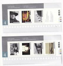 CANADA MNH SERIES 4 PHOTOGRAPHY 2 SOUVENIR SHEETS PO FRESH JUST OVER FACE