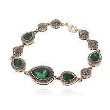 VF VH17 Vintage Gray Crystal VGP Alloy Green CZ Bracelet Fashion Party Gift