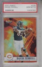 2001 Finest #125 David Terrell BEARS Z22710 - PSA Gem Mint 10