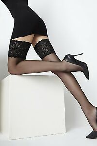 Naomi Bas From Cecilia De Rafael Exclusive Hold-Ups Stockings Wide Lace