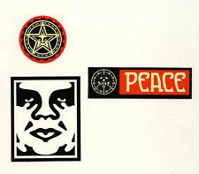 OBEY GIANT Shepard Fairey 3 STICKER LOT Set #5 *BRAND NEW* Peace Andre the giant