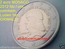 MONACO 2 euro 2012 500 fondazione sovranità Lucien 1er Grimaldi Монако モナコ 摩纳哥