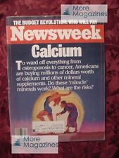 Newsweek January 27 1986 1/27/86 Calcium Suppliments Apple computer +