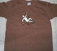 Vintage brown 90's Kryptonics aggressive inline skate wheel Shackle t-shirt sz L