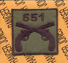 US Army 551 MP Military Police 101 Airborne HCI hat patch B