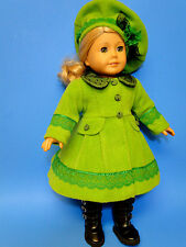 """BEAUTIFUL DESIGNS COAT and HAT  for american girl doll and other dolls18"""""""