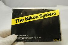 The Nikon System F3 finder and accessories catalog Guide List 1970's genuine