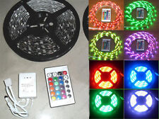 5m 150-LED Light Flexible Strip SMD5050 RGB Color Changing Waterproof IR Control